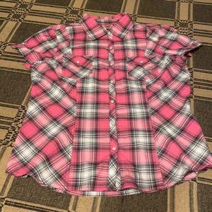 Harley Davidson Ladies Pink Plaid Shirt